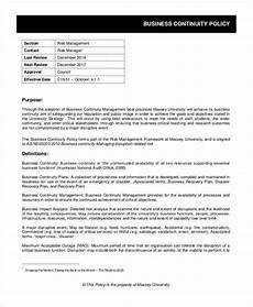 Business Policy Example Business Policy Template 9 Free Pdf Documents Download