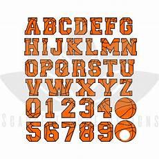 Basketball Font Basketball Font Letters Numbers Monogram Svg Cut File