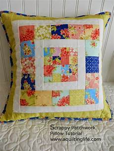 scrappy patchwork pillow tutorial a quilting