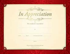 Token Of Appreciation Certificate In Appreciation Certificate Pkg Of 6