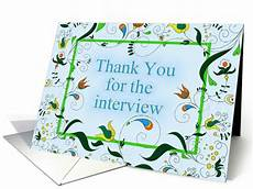 Thank You Card For Job Interview Thank You For Job Interview Card 1379156