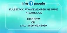 Resume Atlanta Fullstack Java Developer Resume Atlanta Ga Hire It