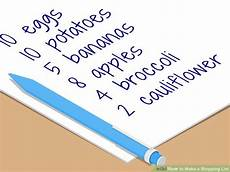 Make List How To Make A Shopping List With Pictures Wikihow