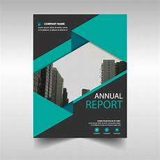 Report Cover Templates Green And Black Annual Report Cover Template Vector Free