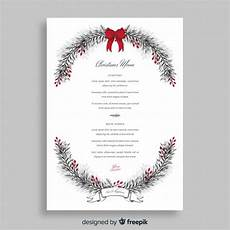 Free Blank Christmas Menu Templates Christmas Menu Template Vector Free Download
