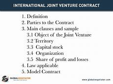 Joint Venture Contract International Joint Venture Contract Contract Template