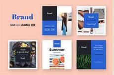 social media design templates brand social media kit in social media templates on yellow