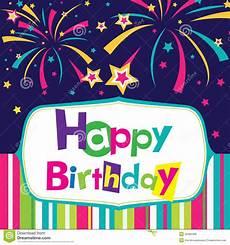 Card Image Vector Happy Birthday Card Stock Vector Illustration Of