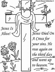 Easter Coloring Pages Printable Religious Church House Collection Easter Jesus Resurrection