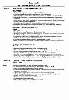 Guest Service Agent Resume Guest Service Representative Resume Samples Velvet Jobs
