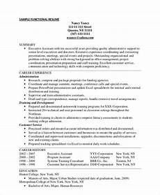 Administrative Functional Resume Free 9 Functional Resume Samples In Pdf Ms Word