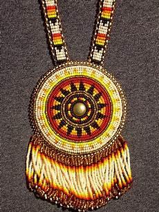 beaded medallion rosette lakota american by