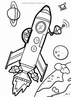 malvorlage rakete weltraum kostenlose ausmalbilder