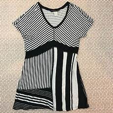 Coco Bianco Size Chart Coco Bianco Women S Black And White Striped Patchwork