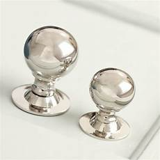 polished nickel cabinet knob
