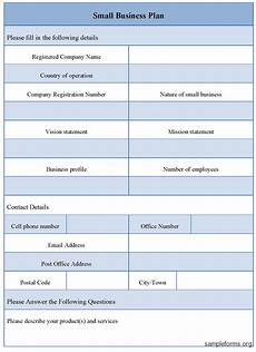 Blank Business Plan Template Small Business Plan Templates Documents And Pdfs