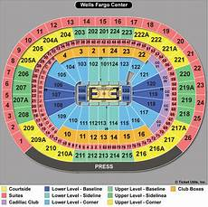 Sixers Seating Chart Wells Fargo Center Seating Chart A Guide To Wells Fargo