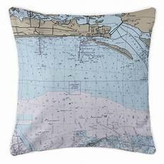 Tide Chart Biloxi Ms Ms Biloxi Ms Nautical Chart Pillow Nautical Chart