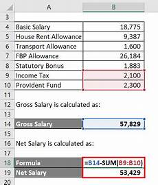 Example Of Salary Excel Templates Salary Computation In Excel Format
