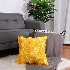 Floral Sofa Slipcover 3d Image by 3d Satin Flower Throw Pillow Cover Shells Floral