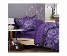 purple floral bed in a bag xl comforter blanket