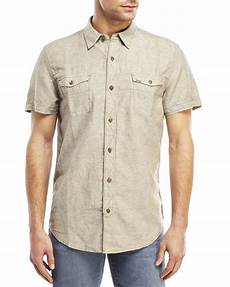 mens two pocket sleeve shirts lyst timberland two pocket sleeve linen shirt in