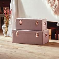 velvet pink storage trunks set of 2 in 2020 storage