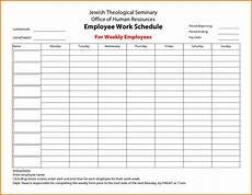 Working Schedule Format Free Employee Work Schedule Charlotte Clergy Coalition