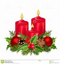 candele rosse candele rosse di natale illustrazione di vettore