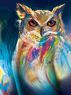 Colorful Owl Art Colorful Owl By Joseochoaart On Deviantart