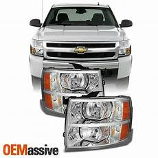 Aftermarket Headlights And Lights For Trucks Fits 07 14 Silverado Clear Headlights Headlamps Pair