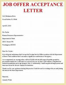 How To Accept Offer Of Employment Job Offer Acceptance Letter Letter Pinterest Job