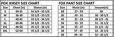 Fox Jeans Size Chart Medium Red 360 Fallout Fox Racing Jersey Med Md M