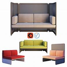 Sofa For Two 3d Image by 3d Coalesse Lagunitas Lounge System Two Seater Sofa