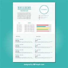 Free Curriculum Template Fun Curriculum Template Vector Free Download
