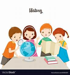 Art History Class Children In History Class Royalty Free Vector Image