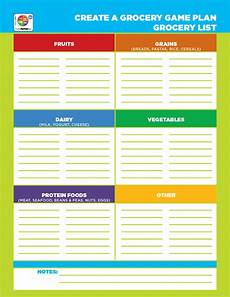 Help Me Make A Grocery List Organize Your Grocery List By Foodgroup With This
