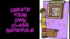 Make Your Own Class Schedule College Essentials How To Create Your Own Class Schedule