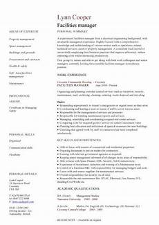 Facilities Manager Resume Facilities Manager Cv Sample Ultimately Delivering