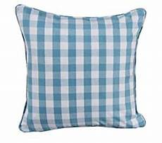 homescapes blue gingham block check large cushion cover 60
