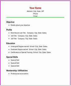 basic job resumes basic resume templates basic chronological resume