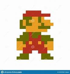 Pixelated Mario Characters Mario Pixel Classic Character Stock Vector