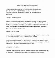 Example Lease Agreement 16 Lease Agreement Templates Word Pdf Pages Free