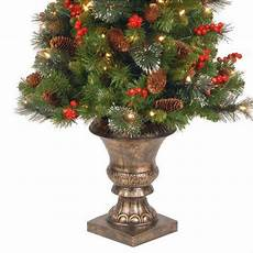 Home Depot Trees With Lights National Tree Company 4 Ft Crestwood Spruce Potted