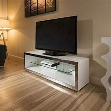 tv stand cabinet unit large 1 5mtr white gloss stainless