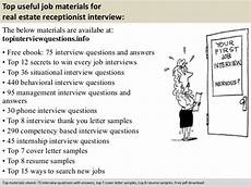 Real Estate Interview Questions Real Estate Receptionist Interview Questions