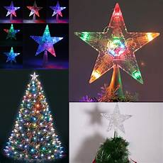 Large Light Up Star Tree Topper Color Changing 30led Twinkling Stars Treetop Light Up