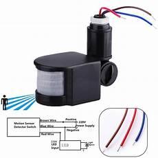 Hoover Led Motion Sensor Light Aliexpress Com Buy 110 220v Outdoor Led Infrared Motion