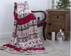 stag nordic festive plush fleece