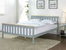 grey wooden bed frame pine king single size solid